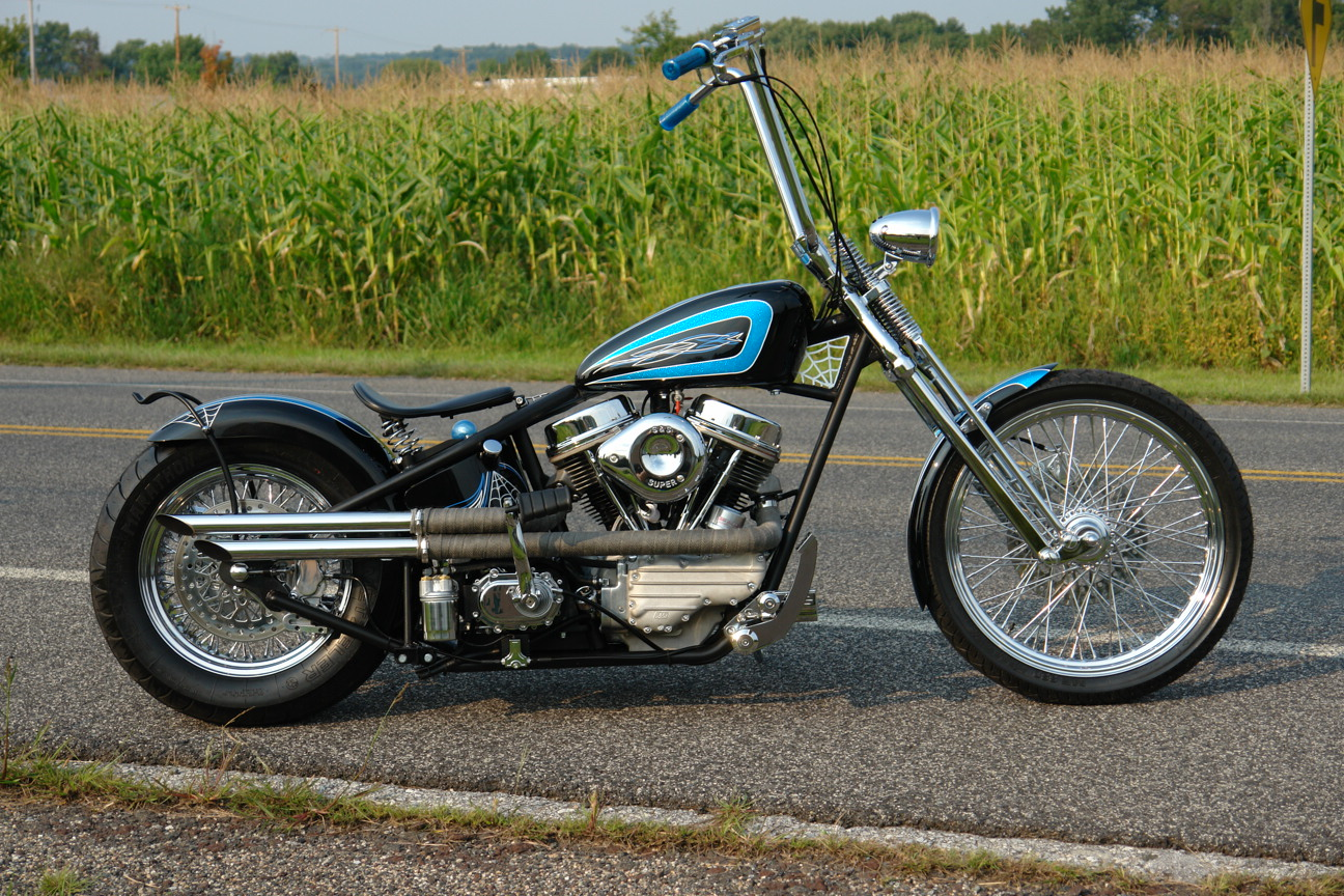 Kraft Tech Chopper Bobber Rigid Hardtail Frame Springer – Dibujos